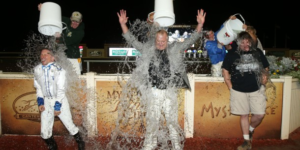 Dean Butler, Randy Sampson, and  Mac Robertson participate in the ALS Ice Bucket Challenge