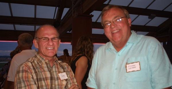 Doug Schoepf (L) with long-time friend Richard Grunder