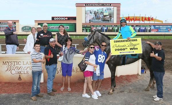 SAM SCORED A GOAL - 2,000th Career Win for Jockey Orlando Mojica!!! - 07-10-16 - R10 - CBY - Winner's Circle