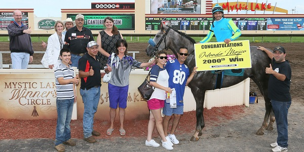 SAM SCORED A GOAL - 2%2C000th Career Win for Jockey Orlando Mojica!!! - 07-10-16 - R10 - CBY - Winner's Circle (1)
